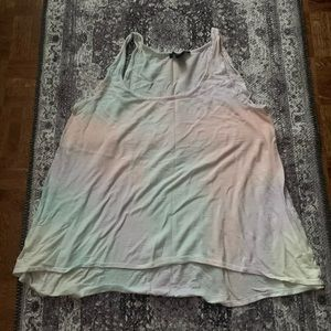 FOREVER 21 Rainbow watercolour tank top